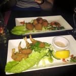 prawn and stuffed peppers starters