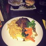 burger and duck main meals