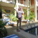 Me being silly by the pool