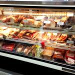 Deli meats case