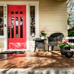 Enjoy our front porch and quiet street in a walkable neighborhood.