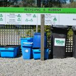 Excellent recycling practices, including composting