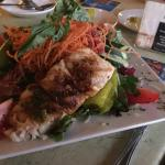 Grouper with dinner salad