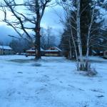 Looking back towards cabins from Moosehead Lake Shoreline
