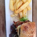 Chickpea & kumara burger. Yum vego or not.