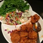 Sriracha shrimp and Asian slaw.
