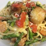 Pasta di Amore...shrimp, scallops and salmon