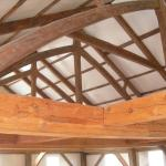 Exposed beam construction