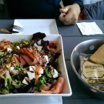 Smoke salmon salad - generous portion