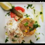 Rost fish Fillet with quinoa jellof