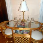 Bedroom Table with Crystalware