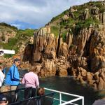 Cape Woolamai cliffs on the Captains Lunch Cruise
