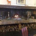 Grande cheminée pour se réchauffer