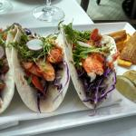 Los cabos style taco with huge chunks of Lobster meat