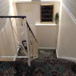 Staircase and lift to rooms