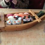 Sushi Boat - beautiful presentation.