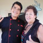 Carol Kemp with Chef Angelo