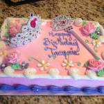 My fairy tale princess cake! Complete with a real tiara & wand!! Amazing, even for a 34 year old
