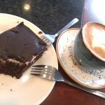 Cake and latte