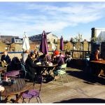 Rooftop cafe terrace