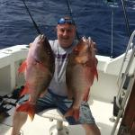 Our friend Jake catching Red Snapper!