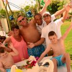 50th birthday celebrations round the pool with Mina and the crew xxx