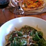 Spinach tortellini & margarita pizza.