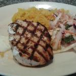 The chargrilled chicken with pilau rice