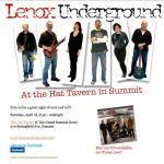 Lenox Underground Returns April 18 at 8:30 PM