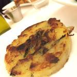 Potato kale cake side