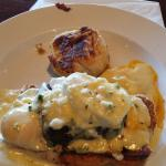 Filet mignon Benedict was incredibly good