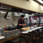 Okonomiyaki prep in miyajima