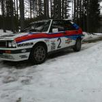Rallybil på plass
