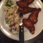 Chicken strips and Caesar