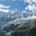 Pfingstegg - widok na lodowiec z okolic schroniska