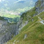 Pfingstegg - widok ze szlaku na Grindelwald