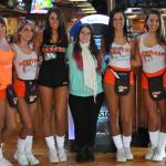 Myself with six Hooters waitresses