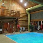 Small indoor pool with sauna