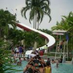 "This is the ""medium"" slide at the medium age kids pool.  Sign says age ""10 and up"" but is ignore"