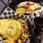 Omelette et œufs