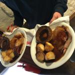Roast beef and pork