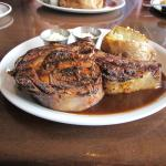 Blackened Prime Rib with loaded baked potato - YUMMO!