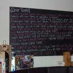 A note to diners