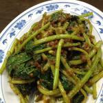 Sweet potato leaves with belachan