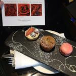 My yummy complementary birthday cakes and lovely card