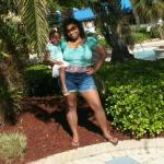 My daughter and I enjoying a day at the pool