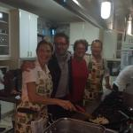 Invited in to the Kitchen By Anna Maria and her husband Chris(owners). We ate their almost our e