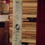 "The pillar where I enscribed myself - ""Dr. Wash"" (college prof)"