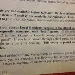 Notice of illegal activities