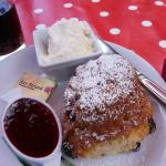 Lovely scone with jam and clotted cream